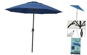 California Umbrella ATA908117-5493 9' Round Aluminum Market, Crank Regatta