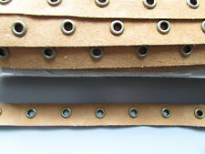 Tan Suedette Eyelet Trim/Tape 1.6cm  Sewing/Costume/Crafts/Corsetry/Punk goth