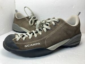 Scarpa Suede Trail Hiking Sneakers Mojito Mens 9.5 Gray Low Top Shoes Womens 11