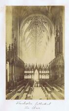 WINCHESTER Cathedral The Choir - Antique Albumen Photograph c1890