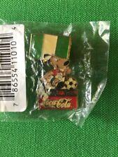 Vintage World Cup USA Coca-Cola 1994 Lapel Pin Nigeria Dog Mascot Soccer