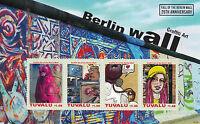 Tuvalu 2014 MNH Berlin Wall 25th Anniv Fall 4v M/S Graffiti Art