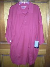 NWT Men's Red Cutter & Buck DryTec Short Sleeve Golf Polo Shirt Size Extra Large