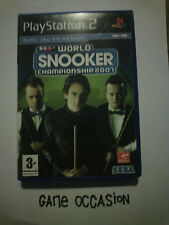 WORLD CHAMPIONSHIP SNOOKER 2007 PS2 PLAYSTATION 2 SONY COMPLET PAL