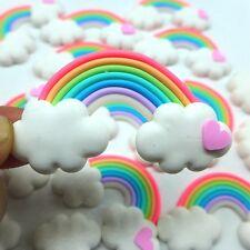 10pcs Kawaii Rainbow Flatback Cabochon for Phone decoratin diy supplies