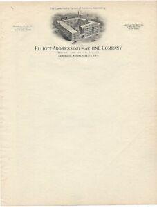 Elliot Addressing Machine Co. - Typewriters - Stationery - Cambridge, MA