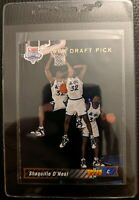 1992 93 UPPER DECK #1 SHAQUILLE O'NEAL ROOKIE CARD RC ORLANDO MAGIC HOF MINT