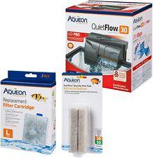 Aqueon Quiet Flow 30 Aquarium Filter Kit with Replacement Filters NIB
