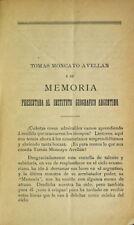 Mera: Tomas Moncayo Avellan y su Memoria Presentada al Instituto Geografico 1888