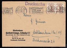 SBZ 138, Paar auf Drucksache LEIPZIG 11.4.46 nach Lichtenstein