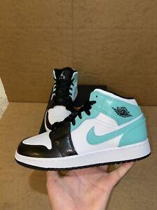 """Nike Air Jordan 1 Mid Tropical Twist """"Igloo"""" 554725-132 GS Size 4Y-7Y"""