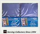 """Ultra Pro 3""""x4"""" Regular NEW Top Loaders Pack Of 25 x 2 packs-Best for NBA cards"""