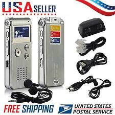 New 8GB Digital Sound Voice Recorder Dictaphone USB Rechargeable MP3 Player USA