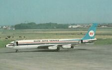 7655 Aviation Postcard  010 ZAIRE AERO SERVICE BOEING 707-458  Airlines