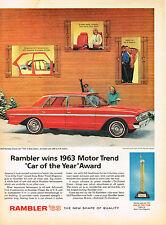 Vintage 1963 Magazine Ad Rambler Tri-Poised Power Brings Smoothness All Speeds