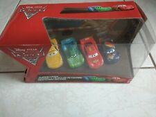 Coffret 4 voitures Cars disney pixar - flash mcqueen max schnell jeff corvette c