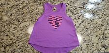 BCG Girl's Tank Top Small (7) Purple Sports Heart