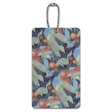 Fruits Leaves and Vines Pattern Luggage Card Suitcase Carry-On ID Tag