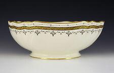 Brown Westhead Moore & Co. Cauldon Porcelain Serving Bowl 1881, Gilt on Cream