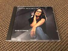 RARE ALBUM CD 15T NANA MOUSKOURI QUAND TU CHANTES (1984)