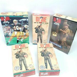 "Lot of 5 GI Joe Australian ODF Army Football Home For Holidays 12"" Action Figure"
