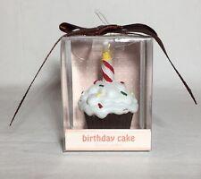 Vela Perfumada Cupcake Regalo de Cumpleaños Pastel Celebración Glaseado Blanco presente en la parte superior