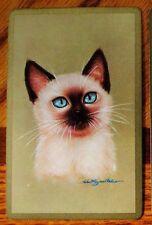 CAT- BURMESE KITTEN - SINGLE VINTAGE SWAP PLAYING CARD