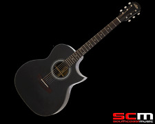 RRP$539 Aria OM200 Series Acoustic Electric Guitar CE Rosewood Cut Away Black