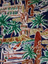 Wild abstract Honolulu scenes tiki Hawaiian shirt MEDIUM by Island Traditions