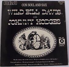 "WILD BILL DAVIS & JOHNNY HODGES Con Soul And Sax LP Album 33rpm 12"" Vinyl VG+"