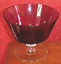 VINTAGE AMETHYST BLOWN GLASS BOWL