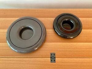 Two Studio Sicart Bowls, One Black / One Grey, Atelier International, Made Italy