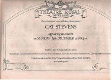 "CAT STEVENS @ Theatre Royal 1971  UK Press ADVERT 12x8"""