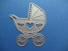 NEW Baby Pram & Heart Metal Craft Cutting Die