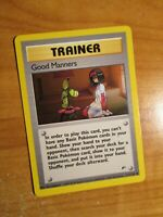 NM (Unlimited) Pokemon GOOD MANNERS Card GYM HEROES Set 111/132 UNCOMMON Trainer