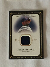 2008 Upper Deck Masterpieces JOHAN SANTANA Game Used Jersey Baseball Card