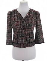 Ann Taylor Loft Womens Boucle Tweed Crop Blazer Jacket Acrylic Wool Sz 4 Small