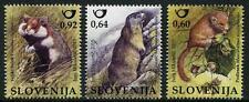 Little Critters Lot de 3 Timbres Slovénie 2015 hamster Loir Marmot rongeurs