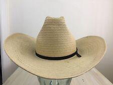 Straw Cowboy Hat - Vtg 70s Tan Self-Forming Western Trail Cap, Sz 7 - Must See!