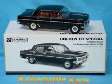 1-18 Classic Holden EH Special Sedan Warrigal Black Item #18642