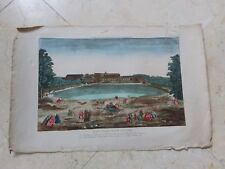 Jacques Chereau -- Vue d'optique - Le Chateau et l'Orangerie de VERSAILLES XVIII