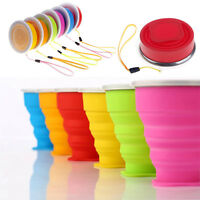 Collapsible Travel Coffee Tea Mug Silicone Outdoor Camping Folding Water Cup