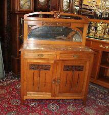 Beautiful French Antique Art Nouveau Oak Sideboard / server .
