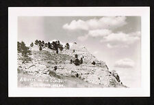 A BUTTE IN THE CLOUDS, CRAWFORD , NEBRASKA -  RPPC Real Photo Postcard