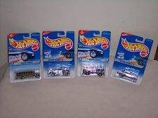 HOT WHEELS LOT OF 4 -SILVER SERIES- '57 CHEVY-BUS- '40's WOODIE-FIRE EATER-NEW