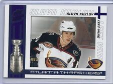 2003-04 PACIFIC QUEST FOR THE CUP SLAVA KOZLOV BLUE SP /150 #5 THRASHERS