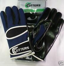 Cutters Gloves Football 017 WR/RB Custom Navy Blue/Black/White Size Small