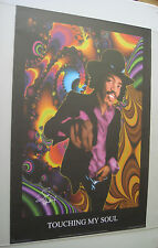 Jimi Hendrix Poster Psychedelic Touching My Soul Groovy Trippy Funky Retro Style