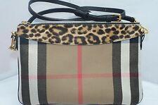 New Burberry Bag Animal Pony House Check Crossbody Peyton Wristlet Handbag