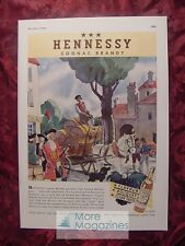 1936 Esquire Advertisement HENNESSY Cognac Brandy Streamline Sparklet Syphon